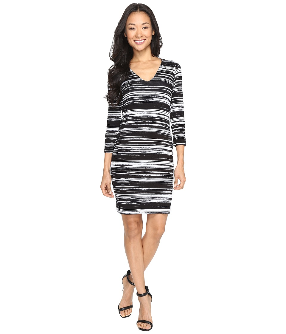 Karen Kane - V-Neck Sheath Dress (Print) Women's Dress
