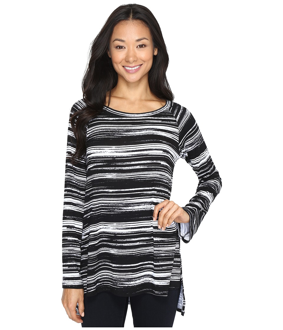 Karen Kane - Hi-Lo Raglan Sleeve Top (Print) Women's Clothing