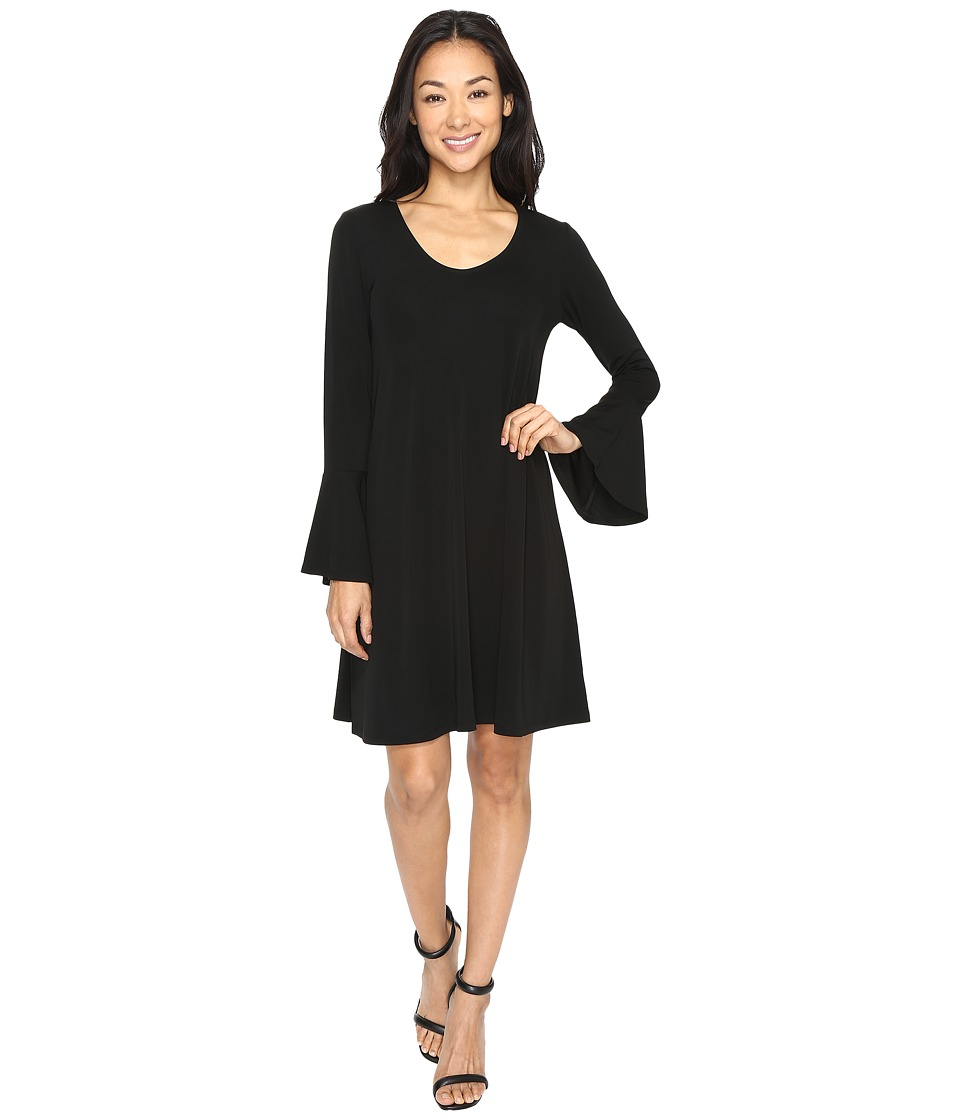 Karen Kane Flare-Sleeve Taylor Dress (Black) Women