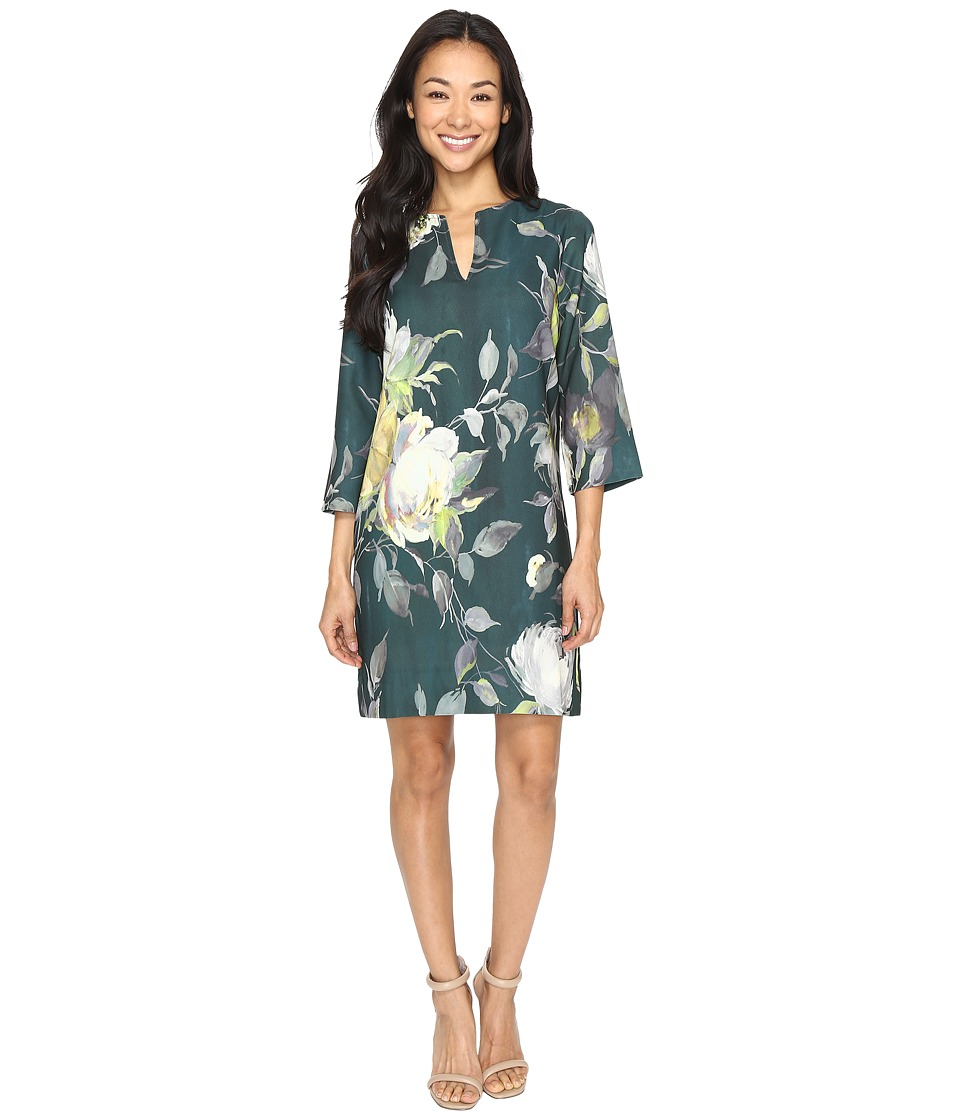 Karen Kane - Floral Print Shift Dress (Floral Print) Women's Dress