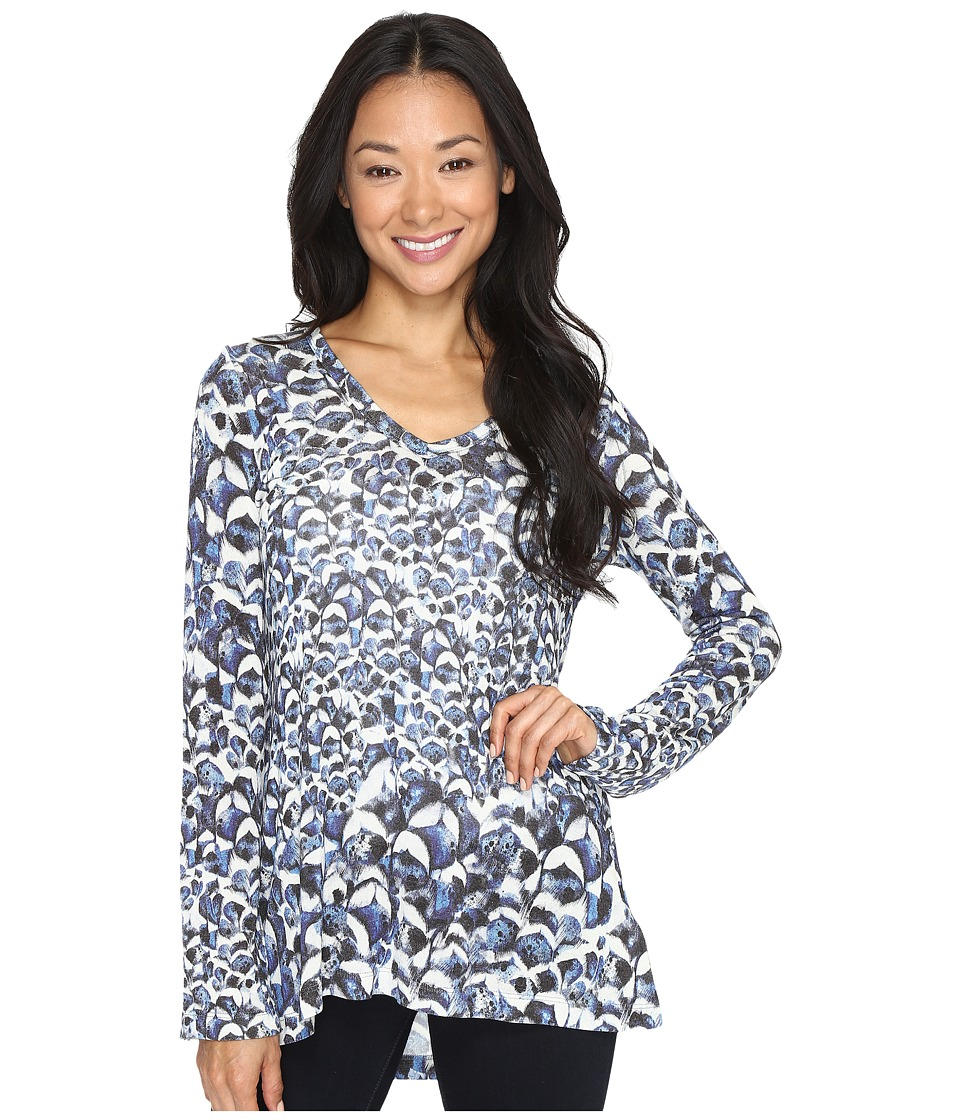 Karen Kane - Flared Sleeve Hi-Lo Top (Print) Women's Clothing