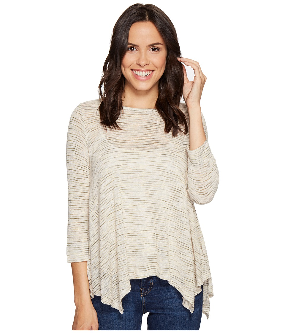 B Collection by Bobeau - Langley Hanky Hem Top (Olive) Women's Long Sleeve Pullover