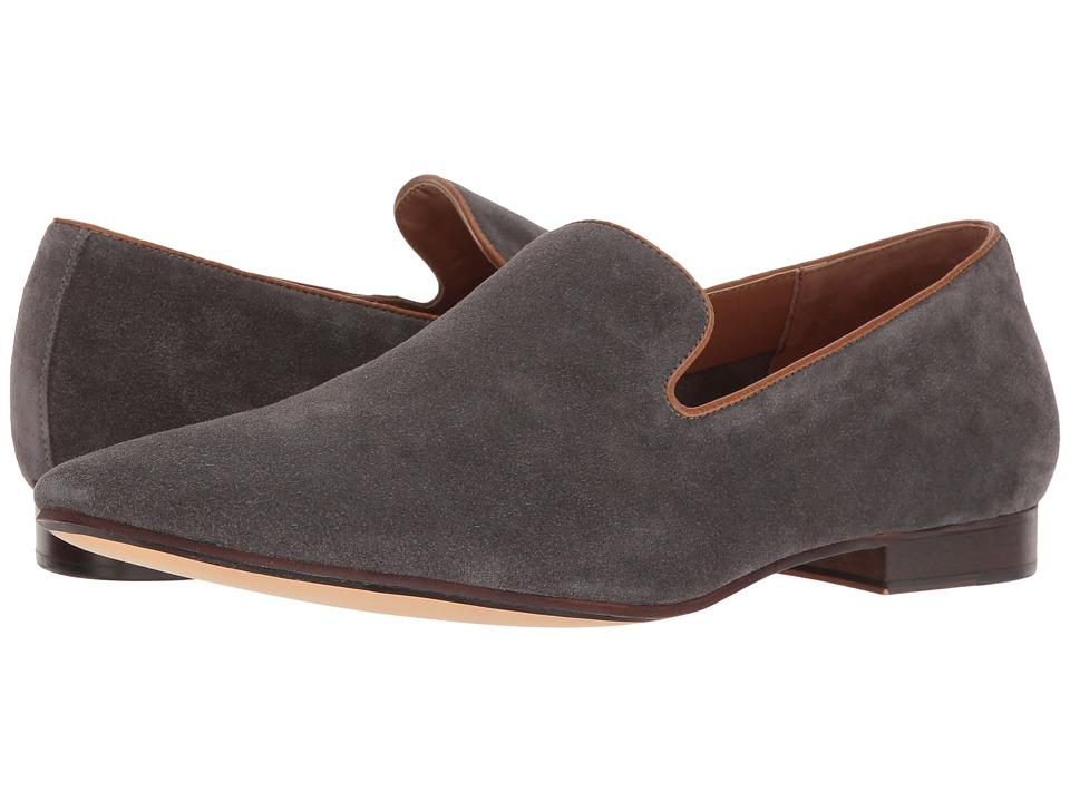 Sam Edelman Bryan Grey Cow Suede Leather Mens Dress Flat Shoes