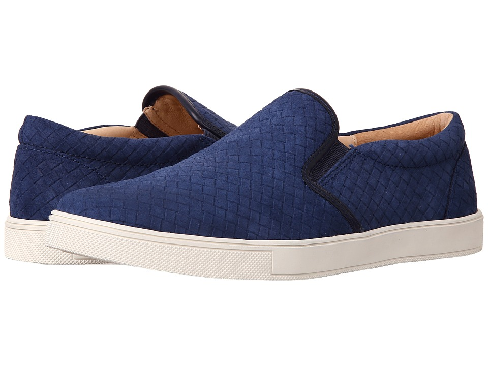 Sam Edelman - Eric (Navy Cow Suede Leather) Men's Slip on Shoes