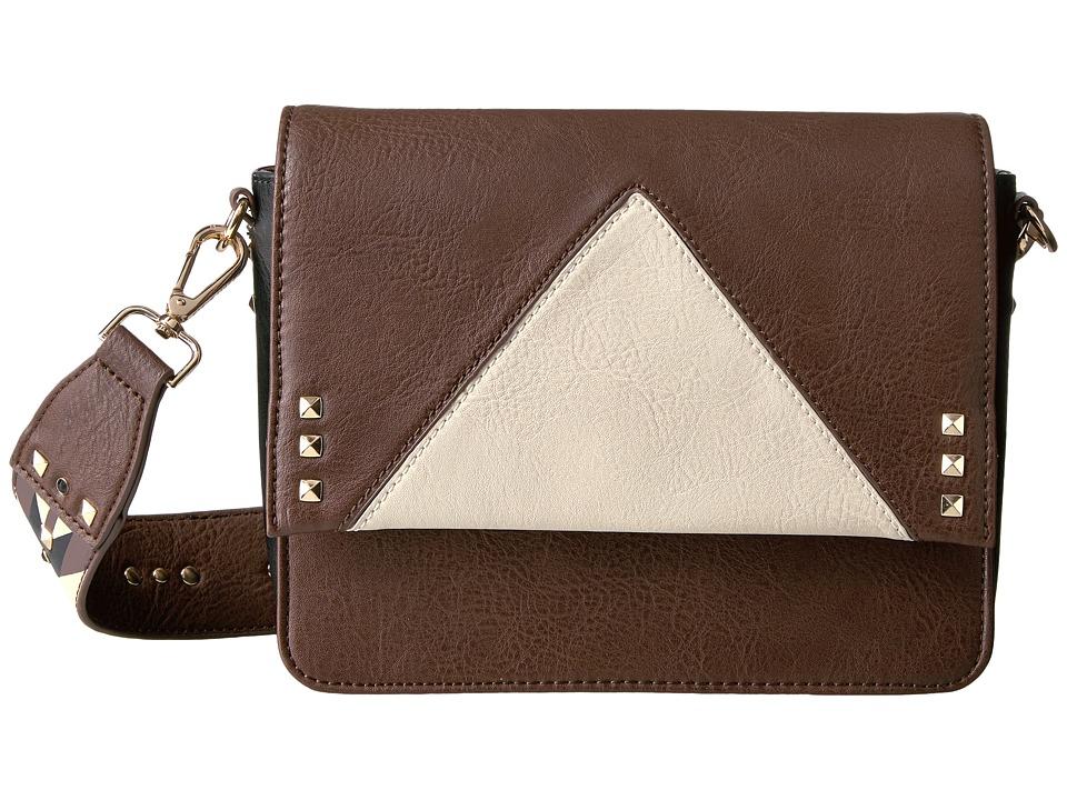 Steve Madden - Printed Strap Crossbody (Brown Multi) Cross Body Handbags