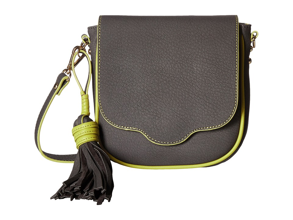 Steve Madden - Mini Saddle Flap (Grey) Handbags