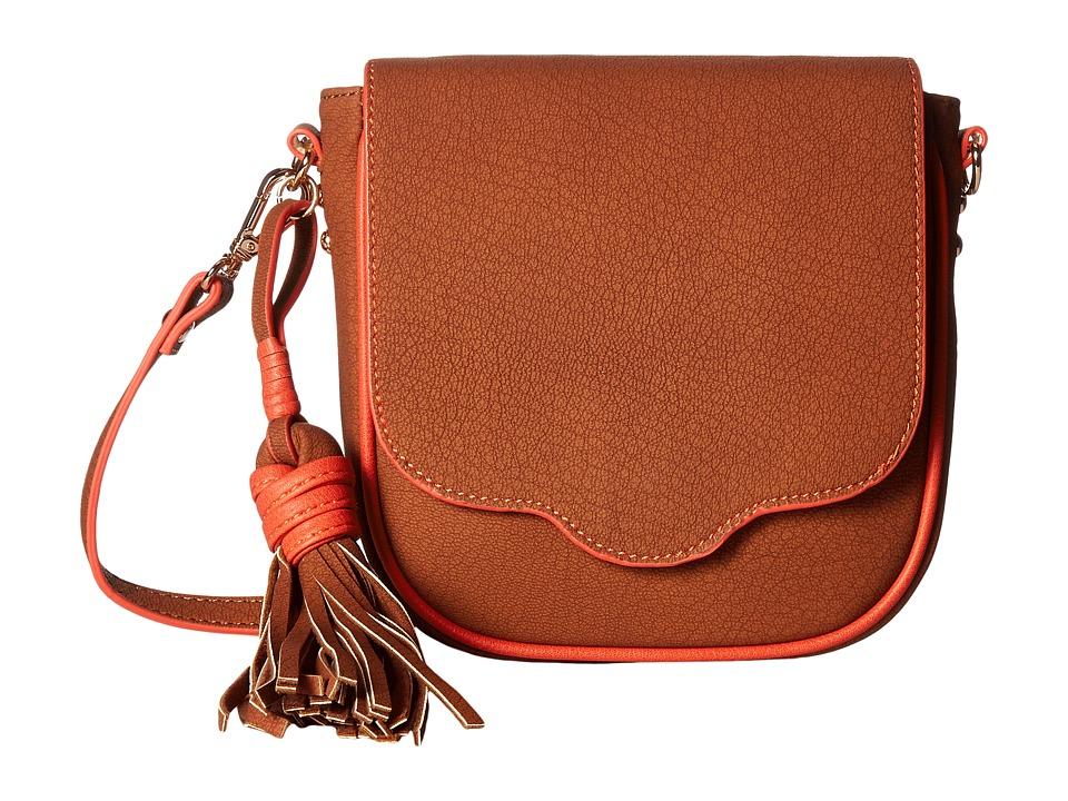 Steve Madden - Mini Saddle Flap (Cognac) Handbags