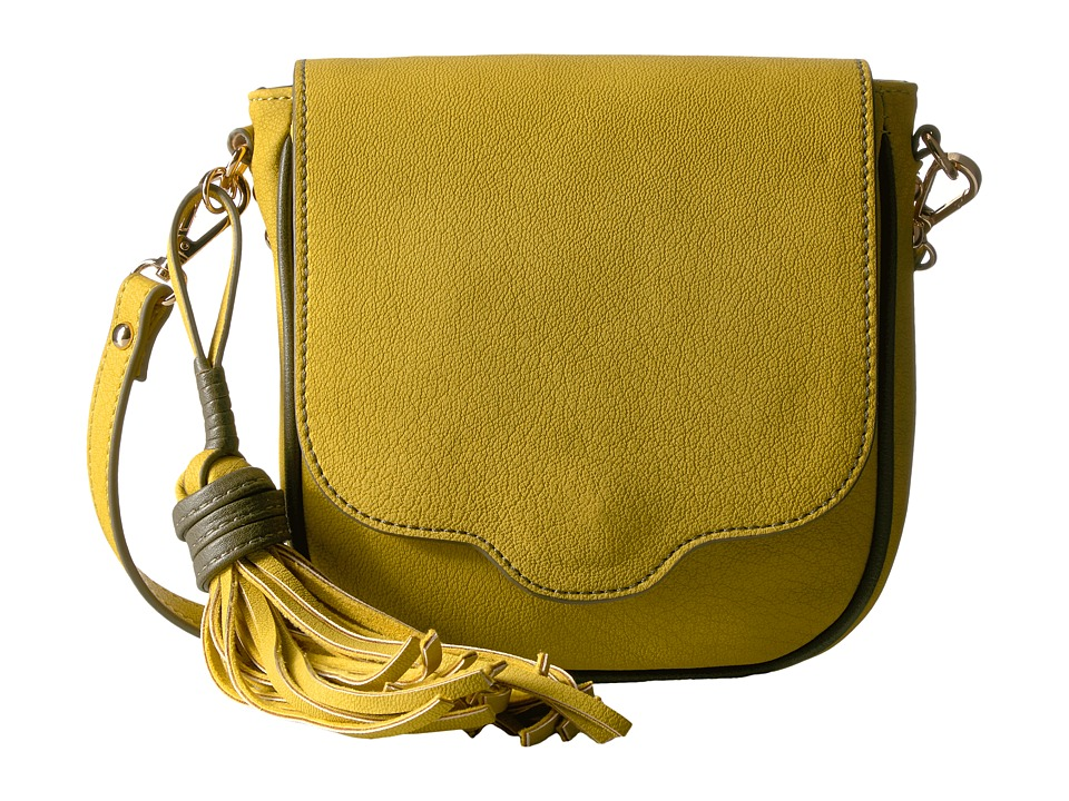 Steve Madden - Mini Saddle Flap (Chartruse) Handbags