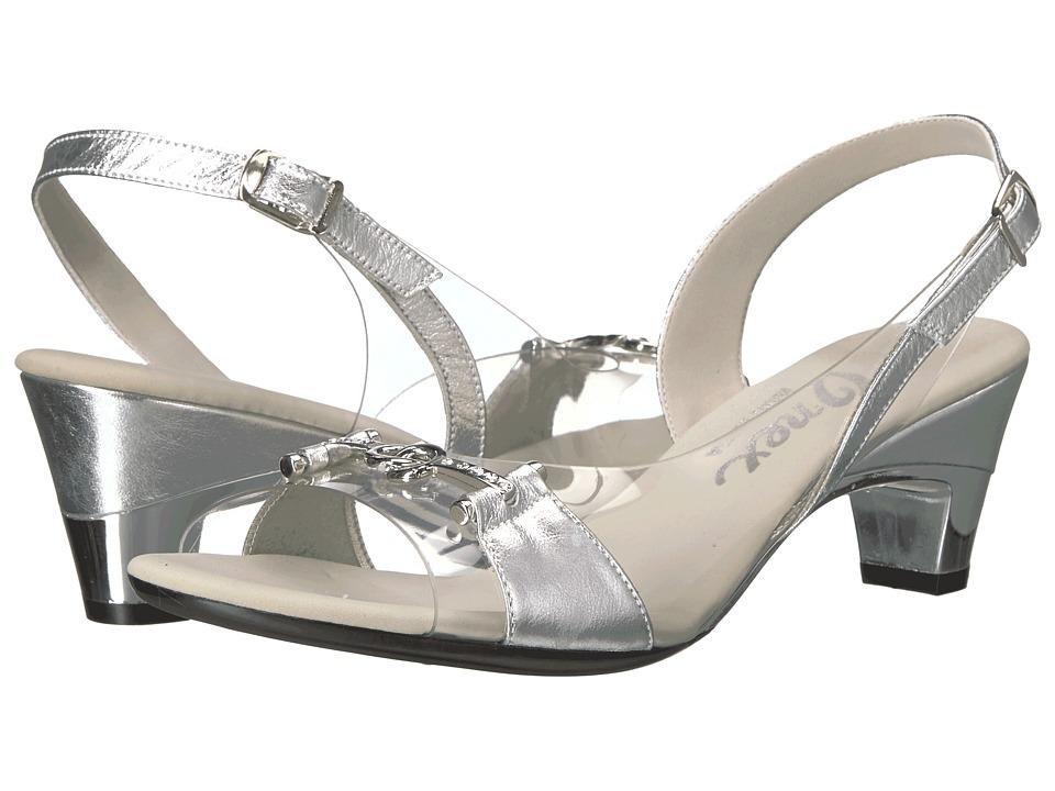 Onex - Sweet (Silver Leather) Women's 1-2 inch heel Shoes