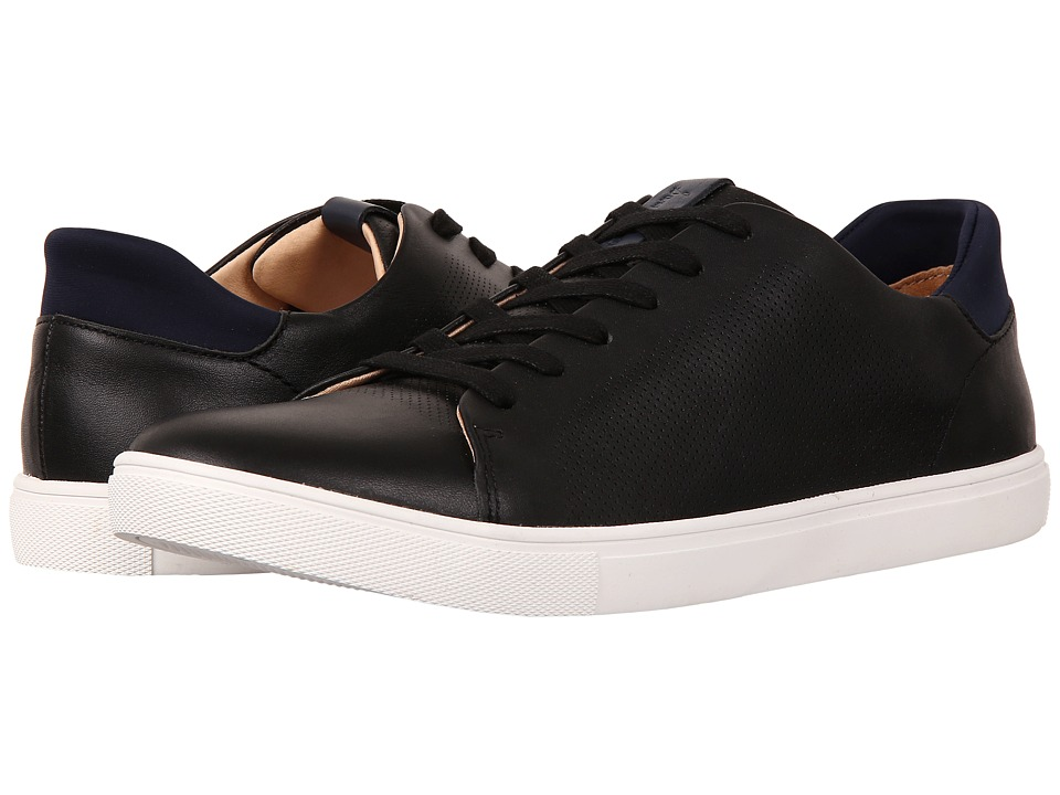 Sam Edelman - Tyson (Black/Navy Smooth Leather/Lycra) Men's Lace up casual Shoes
