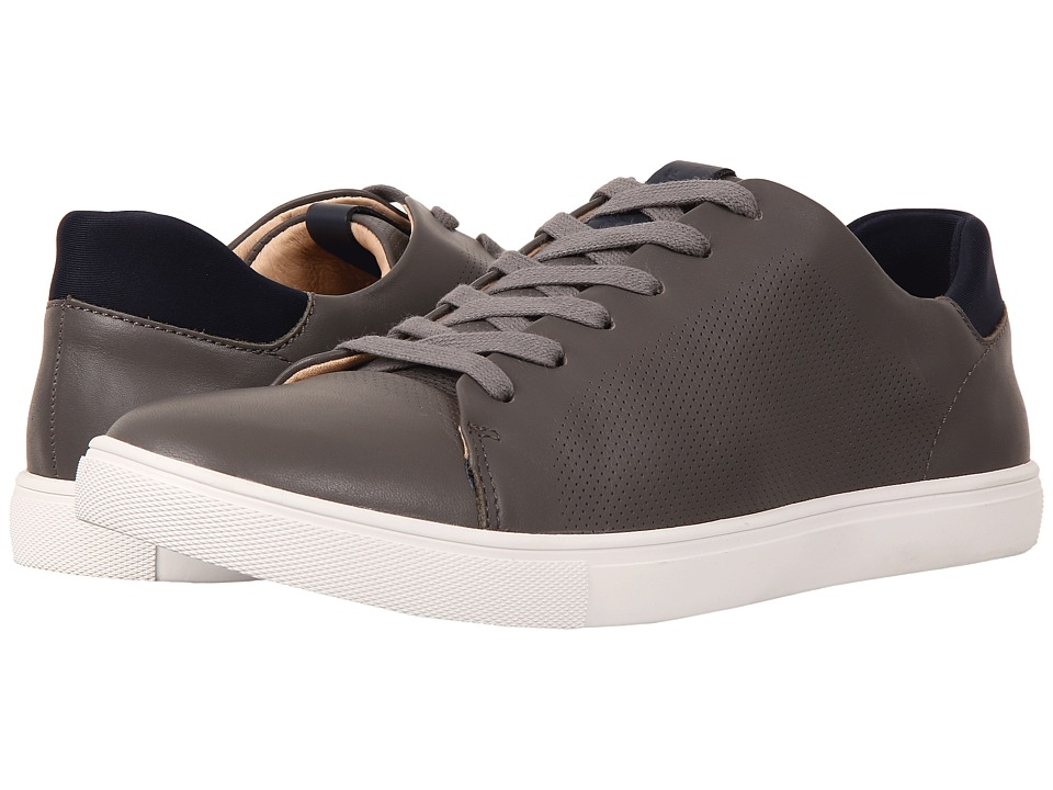 Sam Edelman - Tyson (Grey/Navy Smooth Leather/Lycra) Men's Lace up casual Shoes