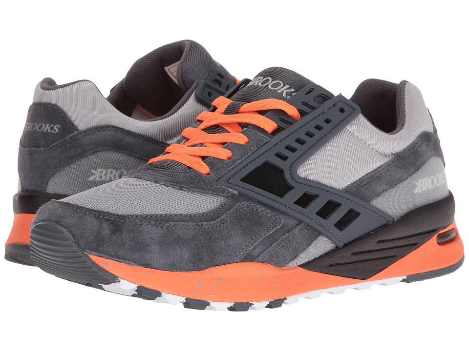 Brooks Heritage - Regent (Anthracite/Orange Clown Fish/Sleet) Men's Shoes