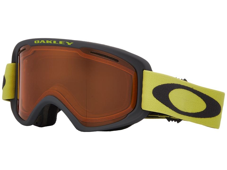 Oakley - O2 XM - Medium (Iron Citrus/Persimmon) Goggles