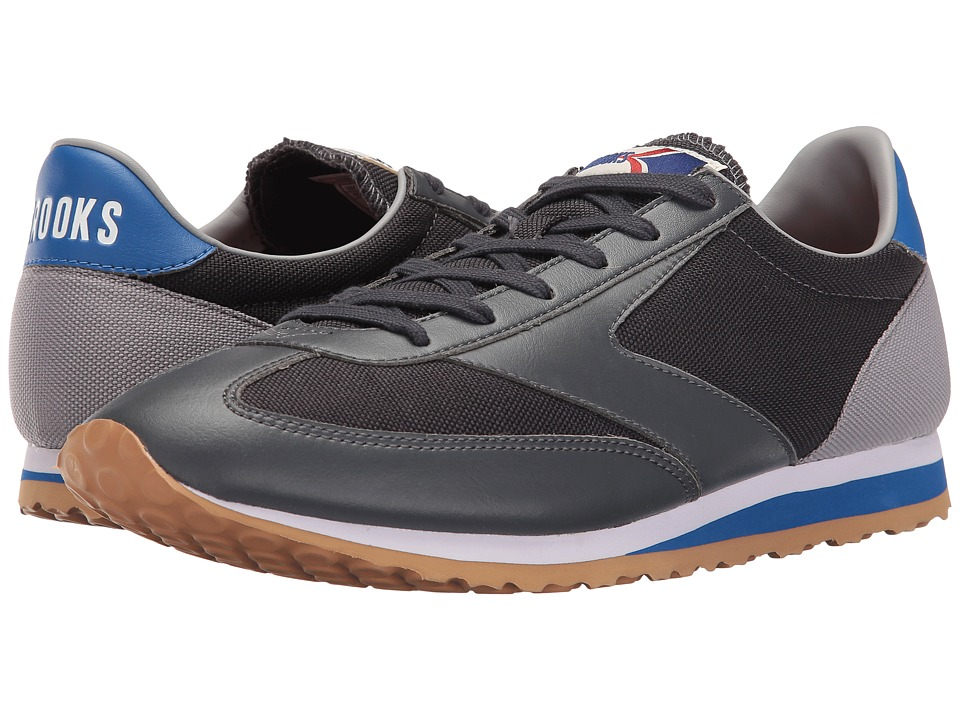 Brooks Heritage - Vanguard (Anthracite/Sleet/Electric Blue/White) Men's Shoes