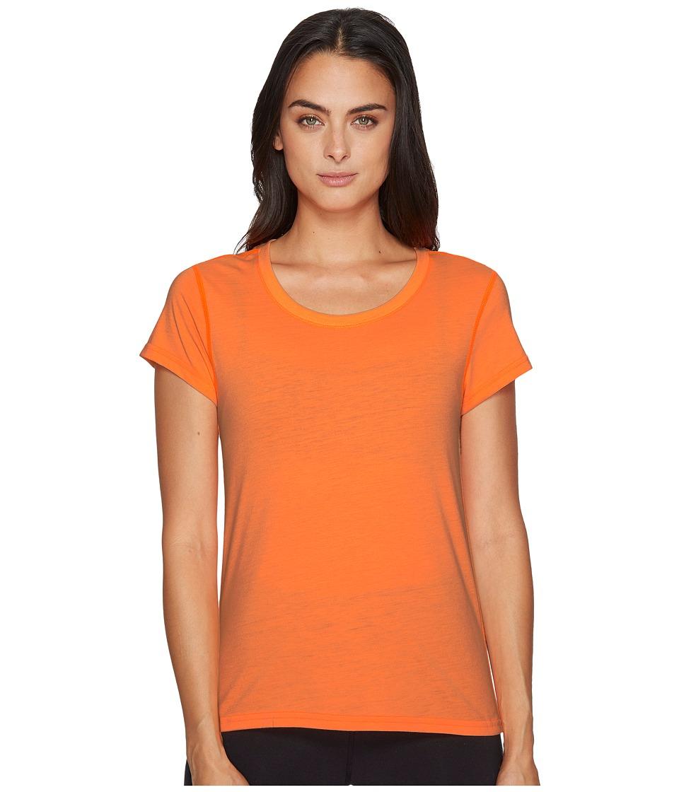 adidas - Ultimate Keyhole Tee (Glow Orange/Black) Women's T Shirt