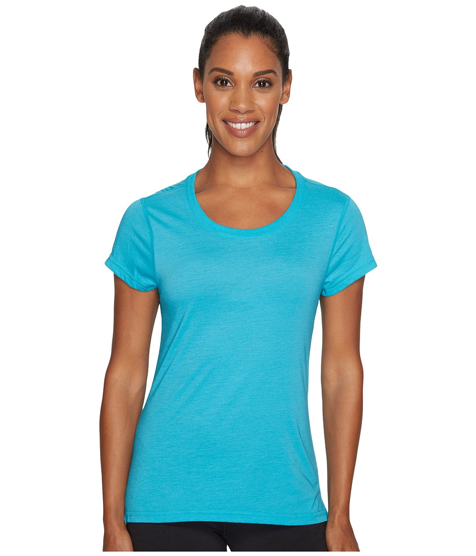 adidas - Ultimate Keyhole Tee (Energy Blue/Black) Women's T Shirt