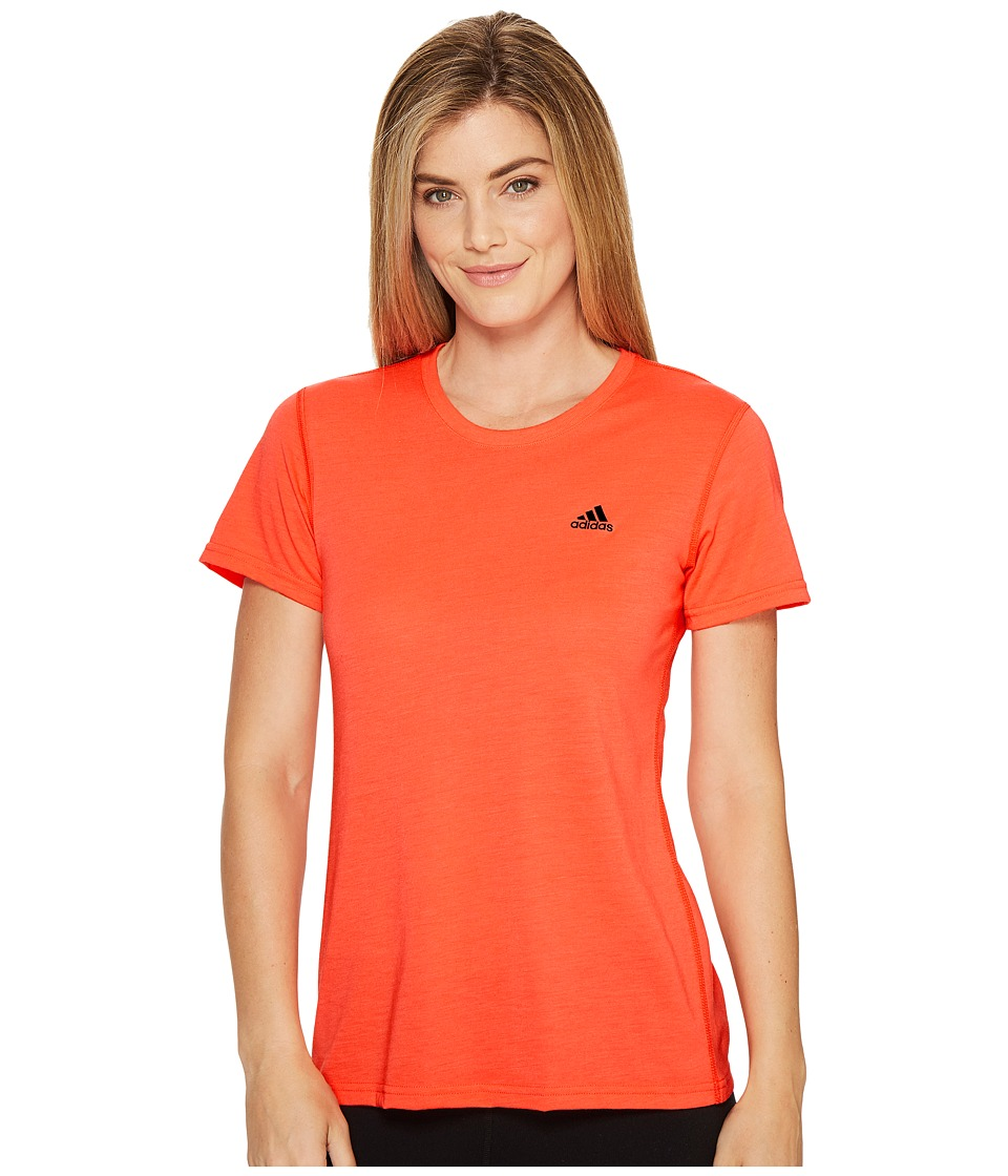 adidas Ultimate Short Sleeve Tee (Easy Coral/Black) Women