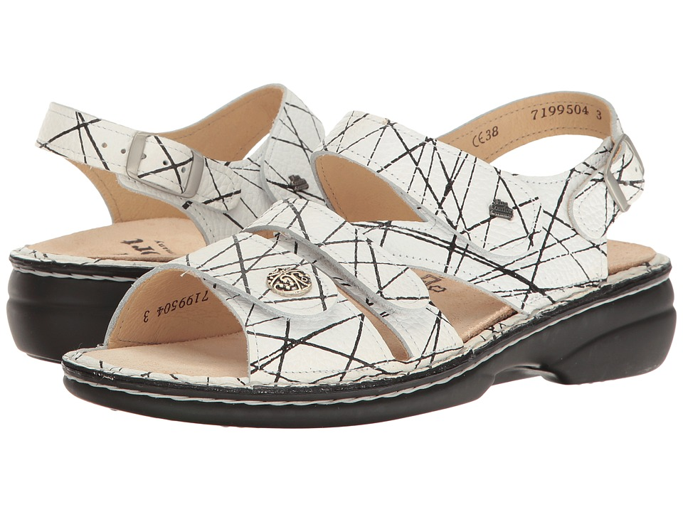 Finn Comfort - Gomera - 82562 (White/Black) Women's Sandals