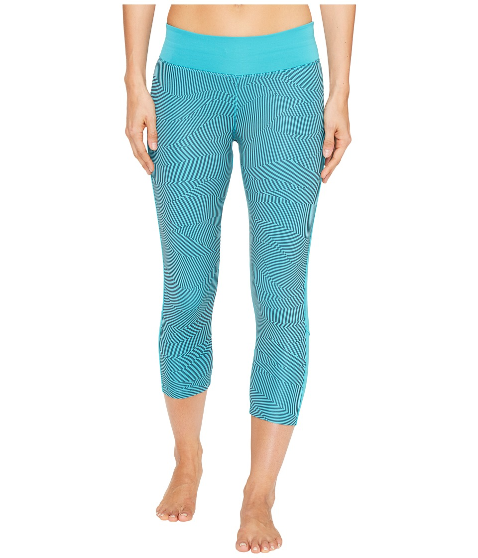 adidas - Energy Print Designed-2-Move 3/4 Tights (Energy Blue Print/Energy Blue) Women's Workout
