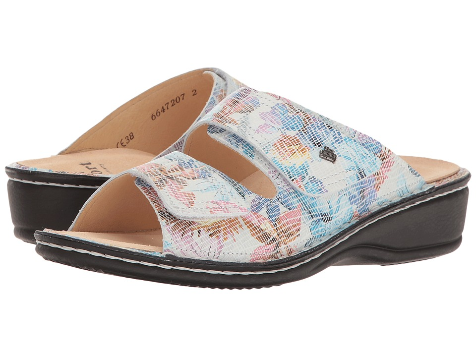 Finn Comfort - Jamaica - 82519 (White Floral) Women's Slide Shoes