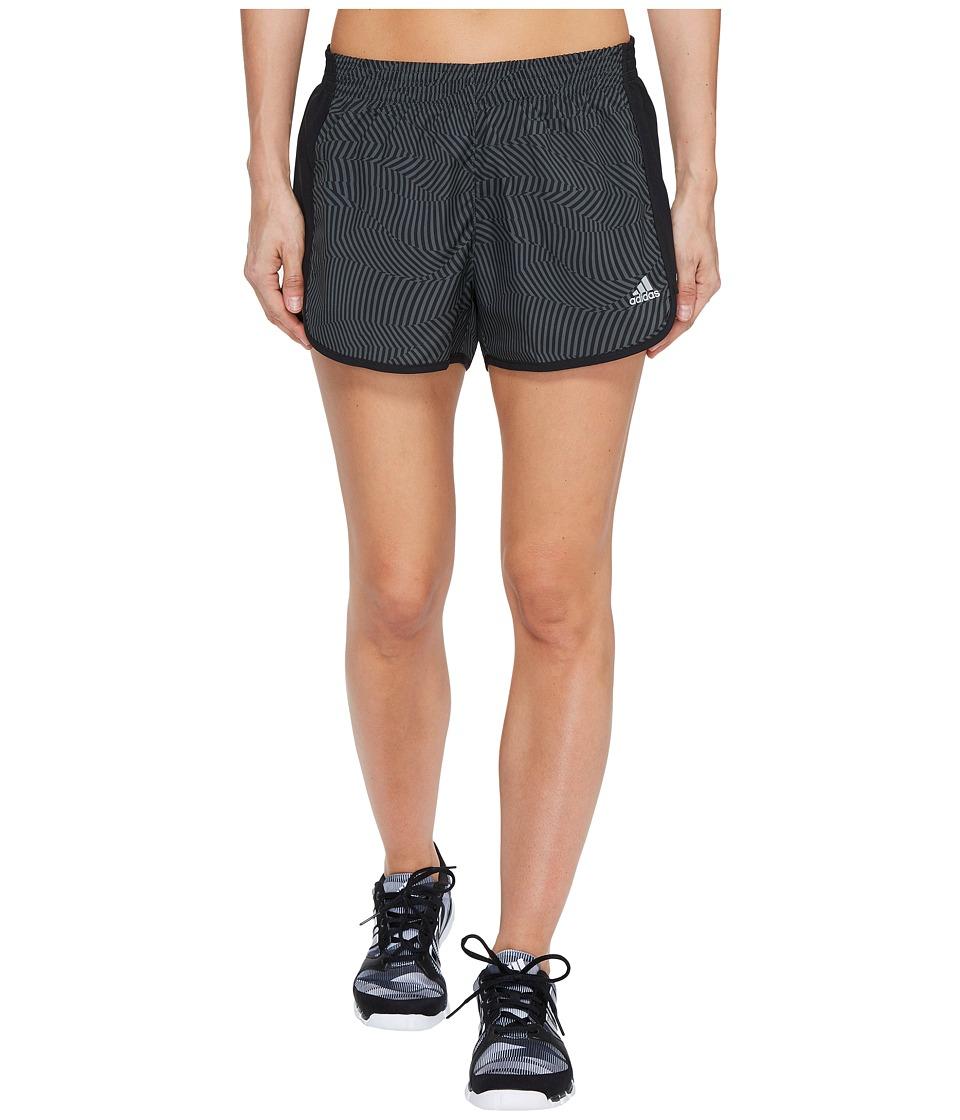 adidas - Energy Print 100M Dash Woven Shorts (Utility Ivy Print/Matte Silver) Women's Shorts