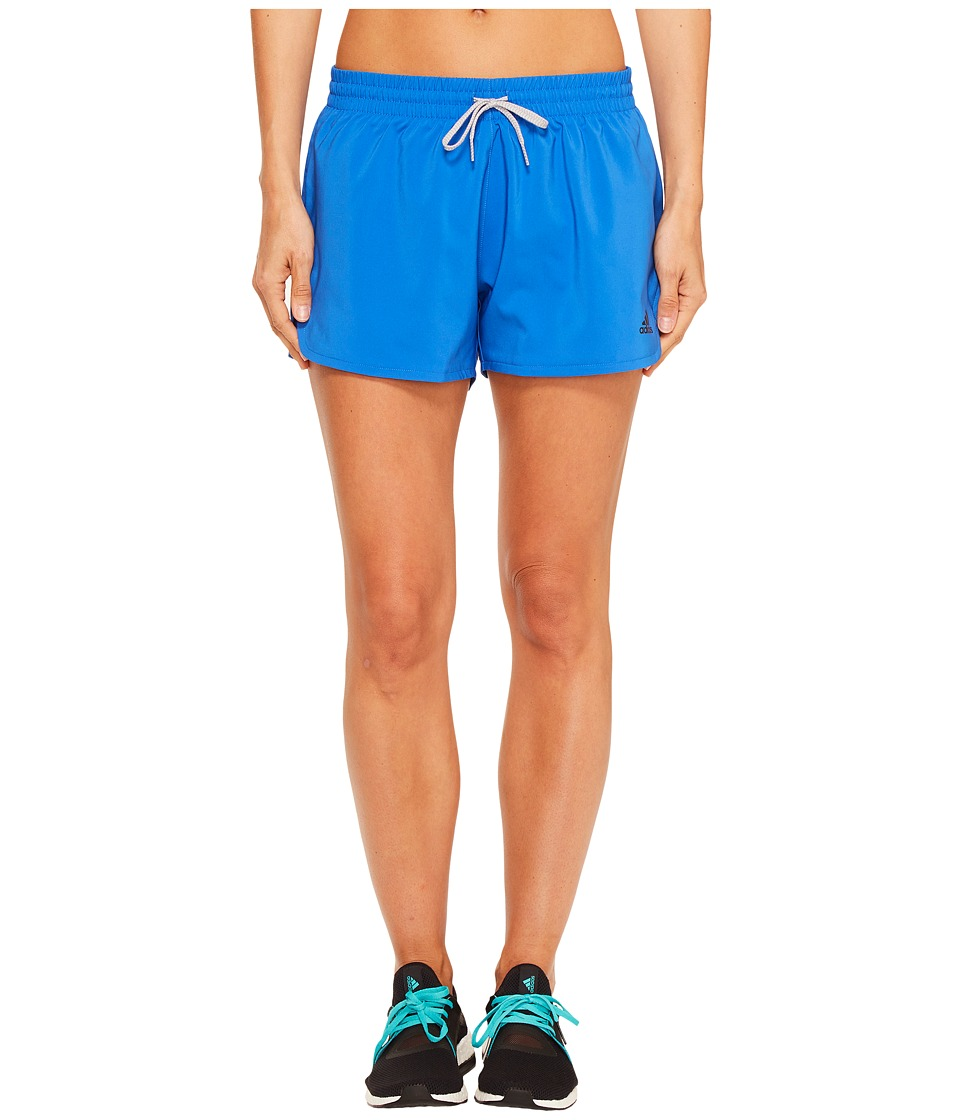 adidas - Woven Slit Shorts (Blue/Black) Women's Shorts