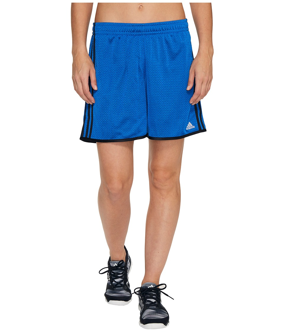 adidas - On Court Mesh Shorts (Blue/Collegiate Navy/Matte Silver) Women's Shorts