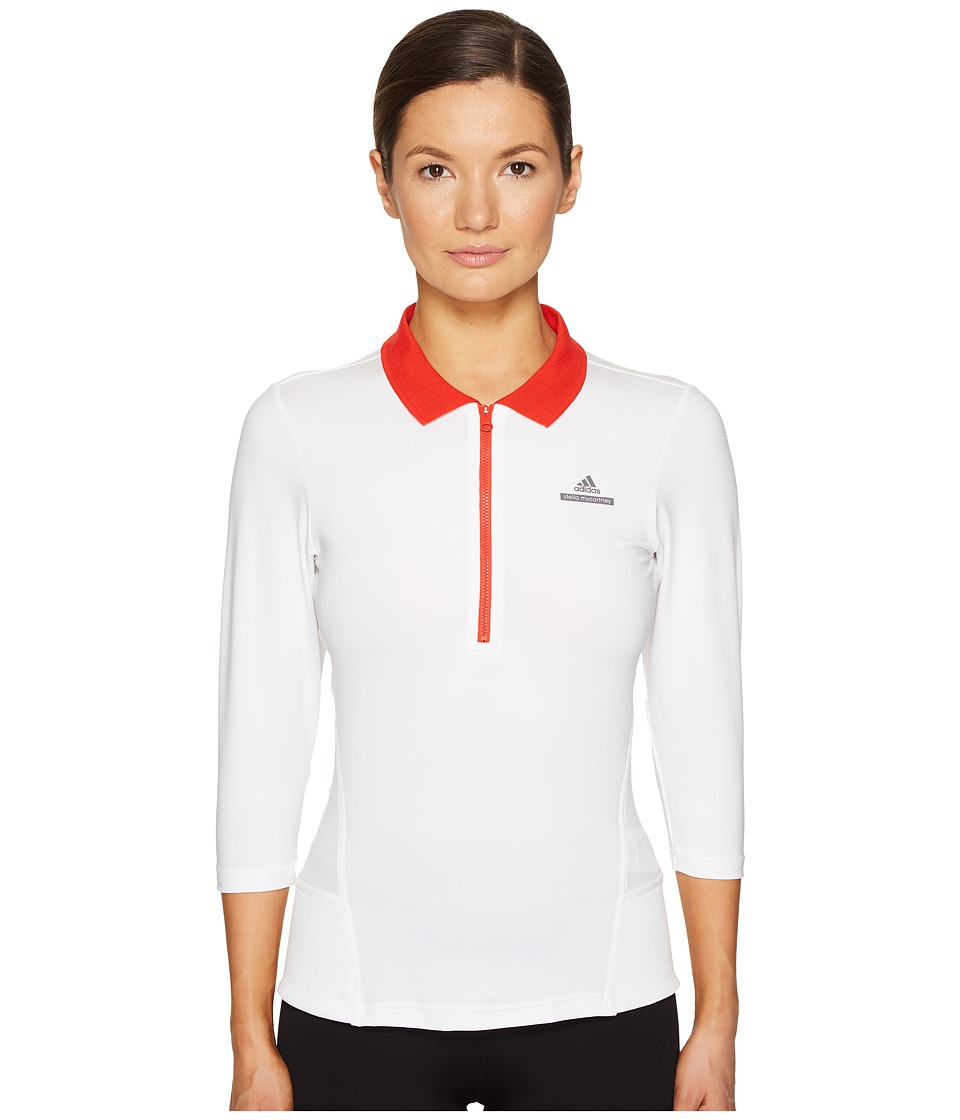 adidas by Stella McCartney - Barricade Long Sleeve Top (Cream White/Red) Women's Long Sleeve Pullover