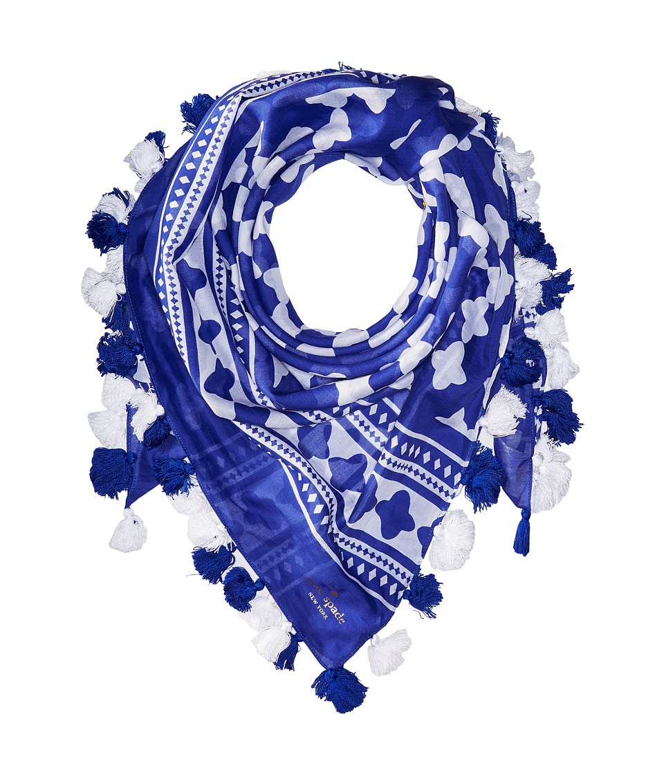 Kate Spade New York - Lantern Square Scarf (Cobalt Blue) Scarves