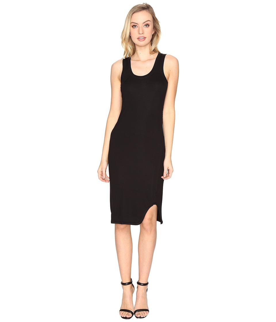 HEATHER - Twist Tank Dress (Black) Women's Dress