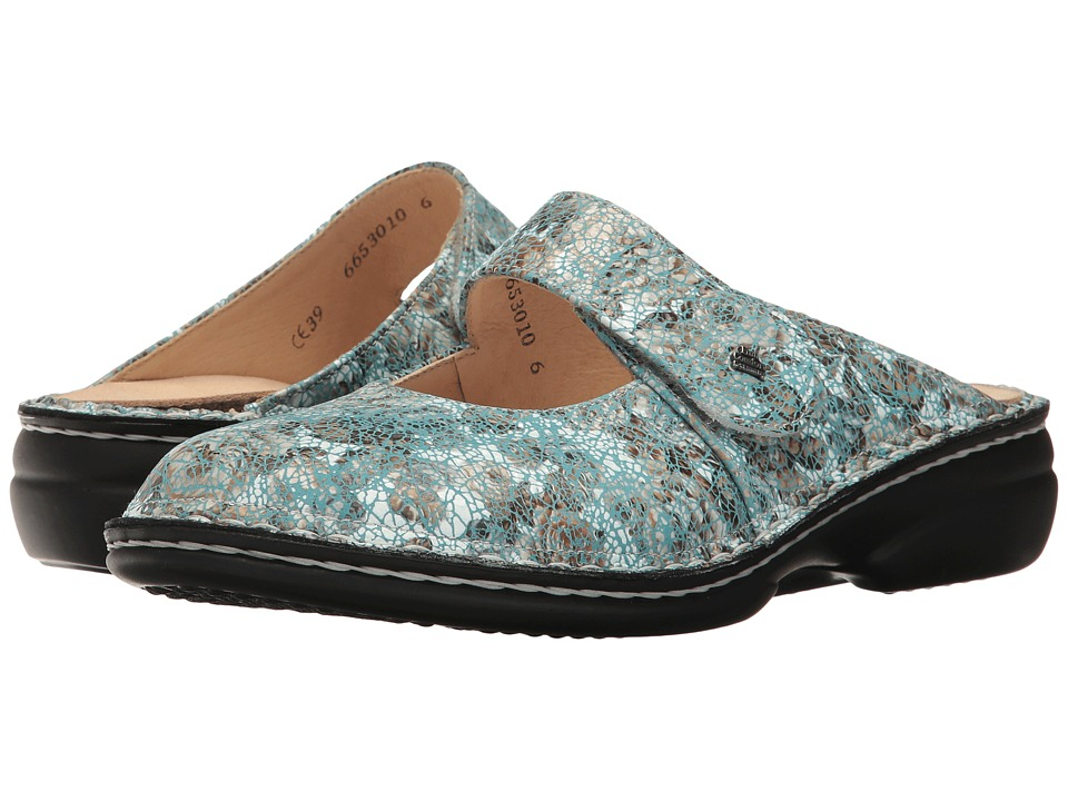 Finn Comfort - Stanford (Aqua) Women's Clog/Mule Shoes