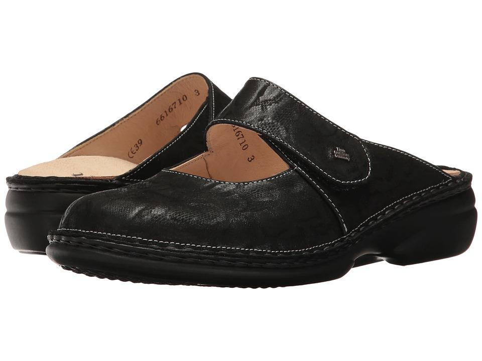 Finn Comfort - Stanford (Wipeg Black) Women's Clog/Mule Shoes