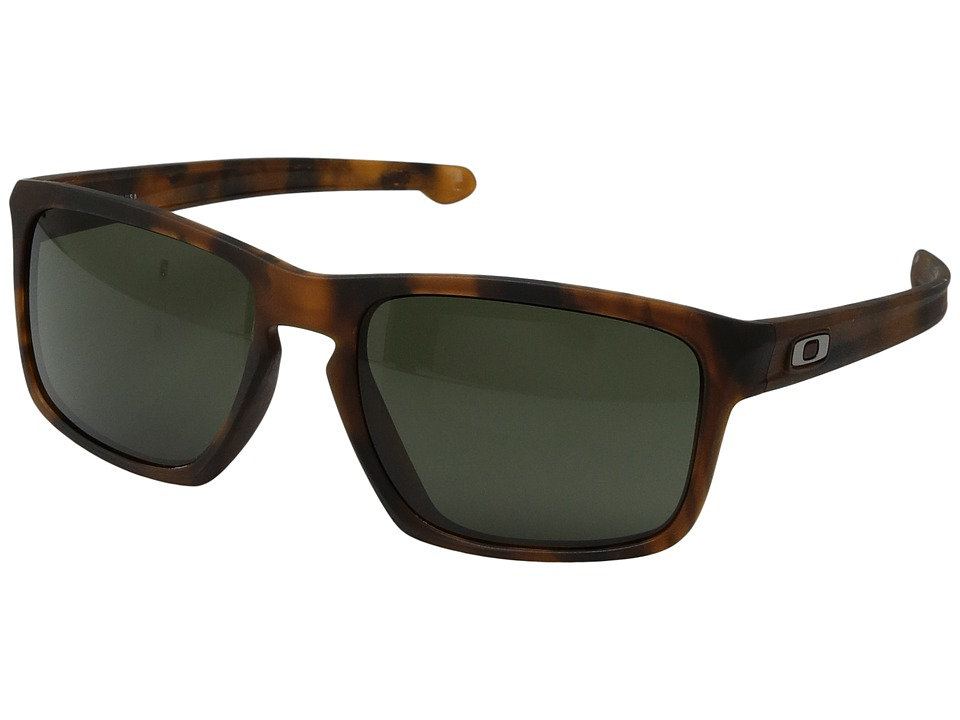 Oakley - (A) Sliver (Matte Brown Tort w/ Dark Grey) Sport Sunglasses