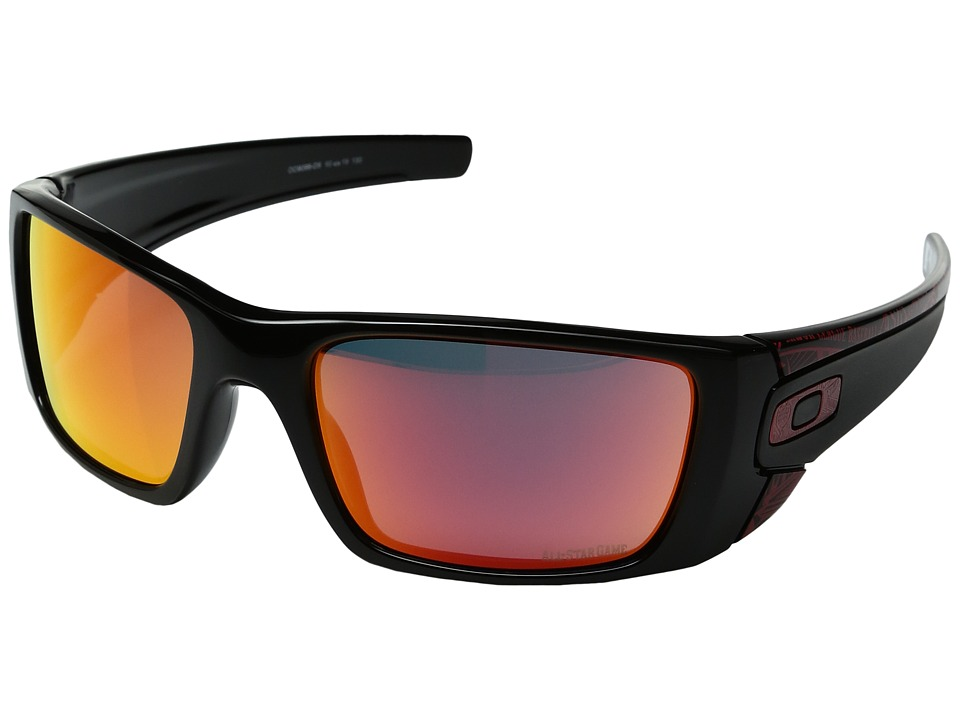 Oakley - Fuel Cell MLB All (Polished Black w/Ruby Iridium) Sport Sunglasses