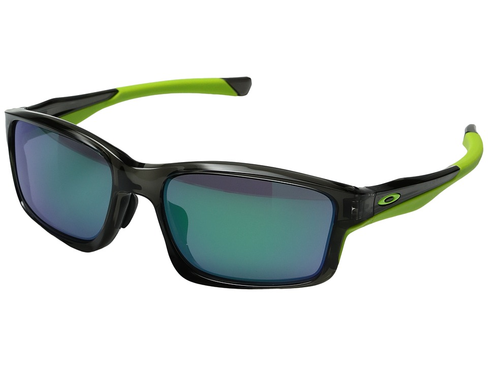 Oakley - (A) Chainlink (Grey Smoke w/ Jade Iridium) Sport Sunglasses