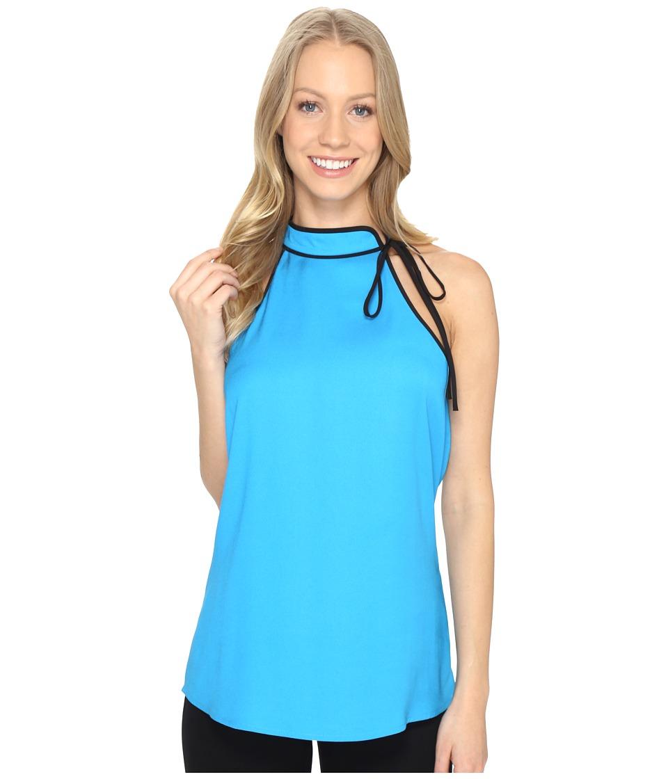 Calvin Klein Tie Halter Top (Adriatic Blue) Women