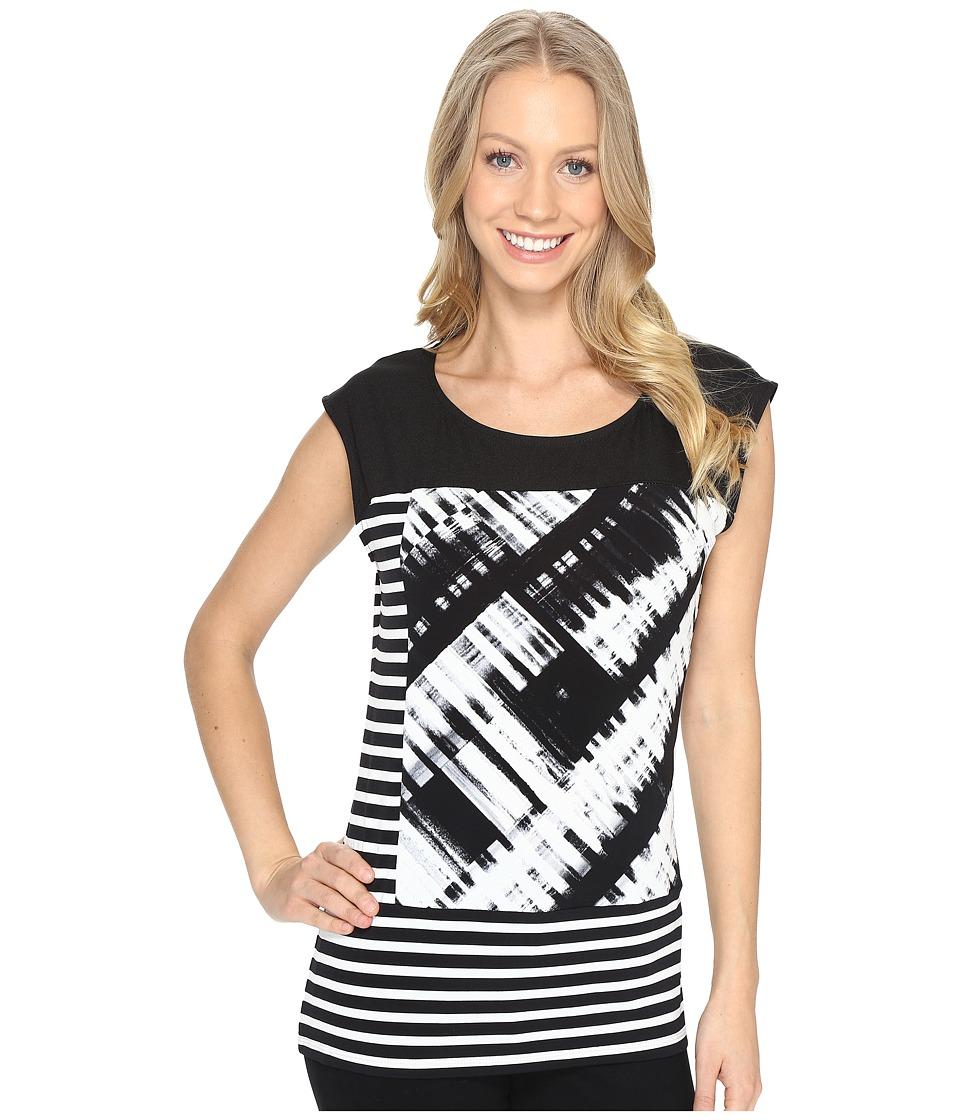 Calvin Klein Mixed Print Tank Top (Black/White) Women