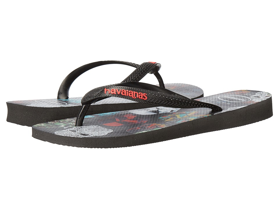 Havaianas - Star Wars Flip-Flops (Black/Black/Red) Men's Sandals