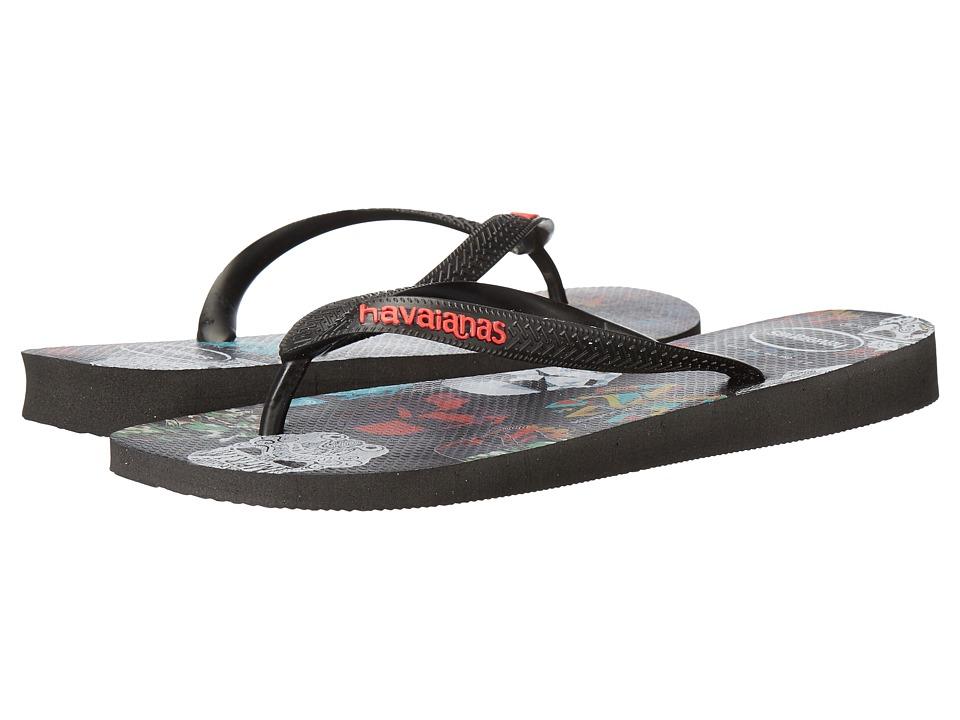 Havaianas - Star Wars Flip-Flops (Black/Black/Red) Men's Sandals