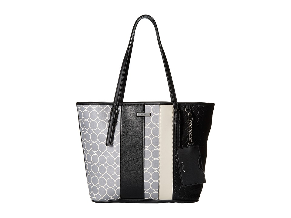 Nine West - Ava Tote (Heather Grey/Milk/Black/Black/Black/Milk) Tote Handbags