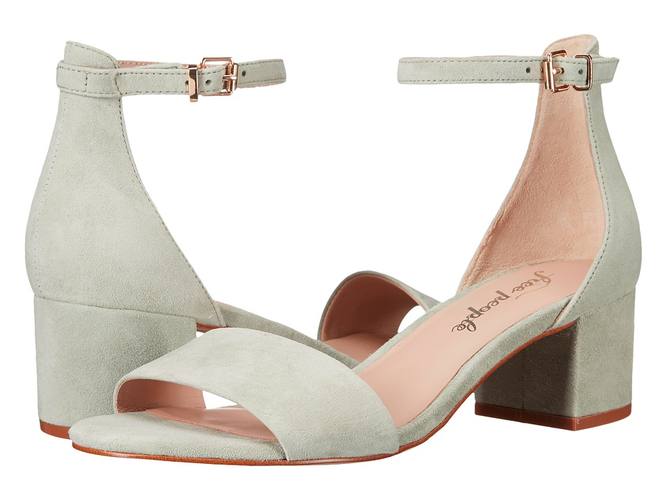 Free People - Marigold Block Heel (Blue/Green) High Heels