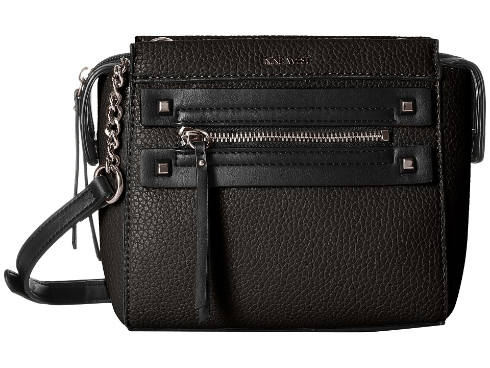 Nine West - Get Poppin Crossbody (Black/Black) Cross Body Handbags
