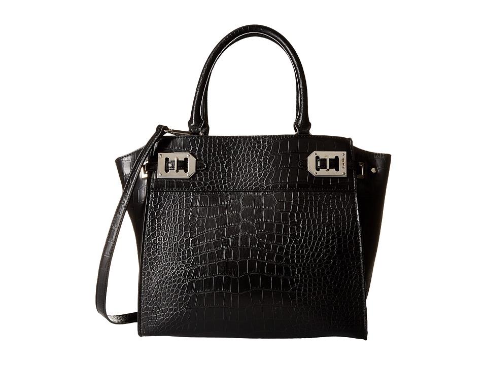 Nine West - Gleam Team Large Satchel (Black) Satchel Handbags