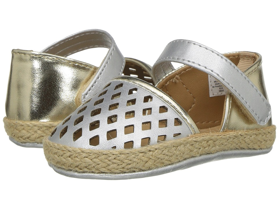 Baby Deer - Metallic Espadrille Sandal (Infant) (Silver/Gold) Girls Shoes