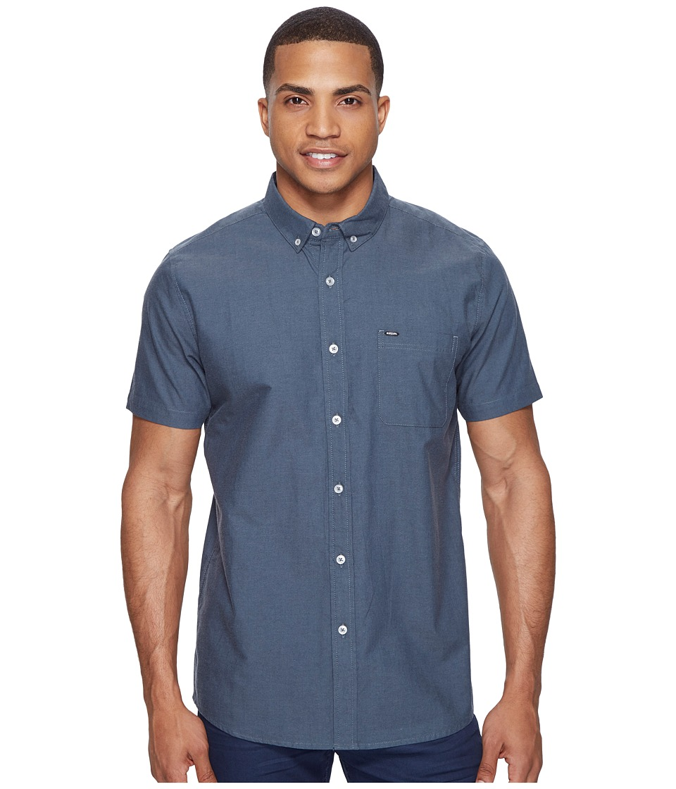 Rip Curl - Ourtime Short Sleeve Shirt (Slate Blue) Men's Clothing