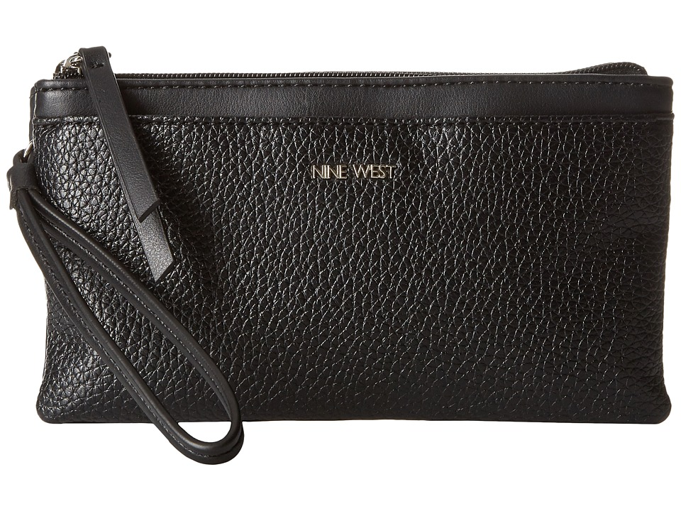 Nine West - Table Treasures Wristlet (Black/Black) Wristlet Handbags