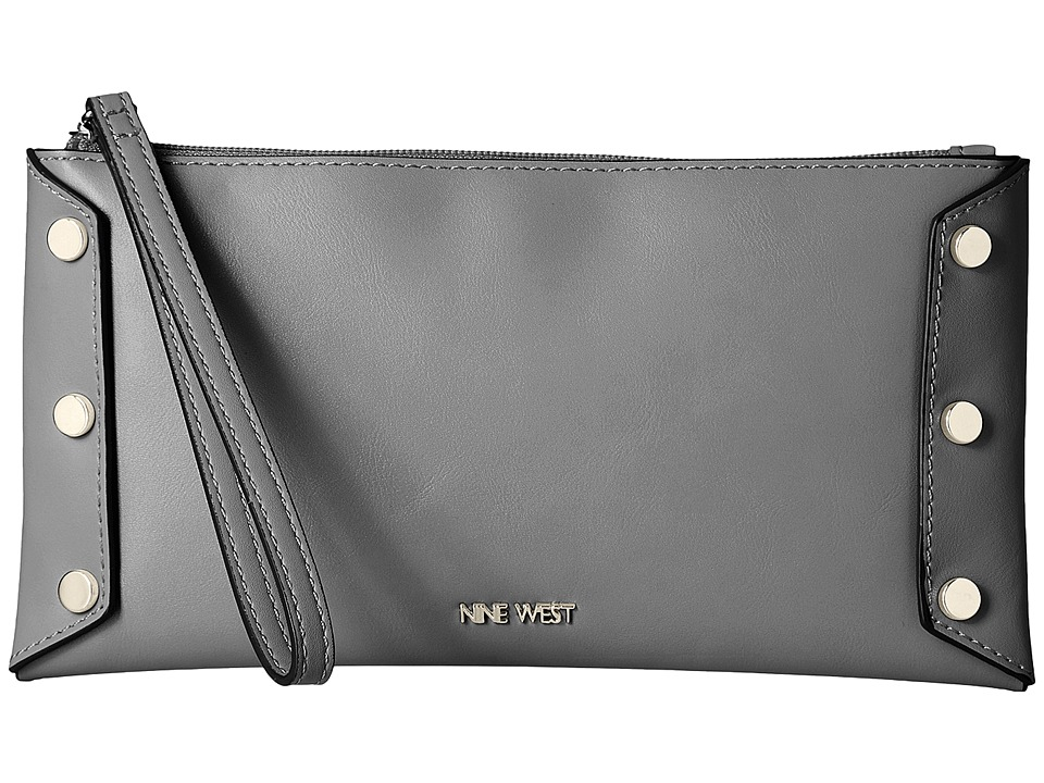 Nine West - Sheer Genius Wristlet (Heather Grey/Black/Heather Grey) Wristlet Handbags