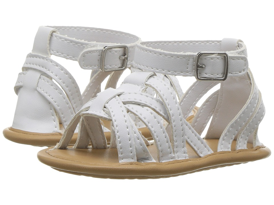 Baby Deer - Strappy Sandal (Infant) (White) Girls Shoes