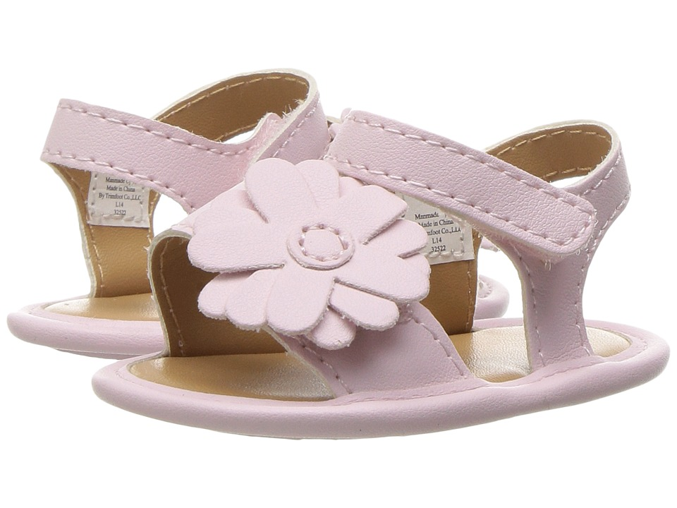 Baby Deer - Double Strap Sandal with Flower (Infant) (Pink) Girls Shoes