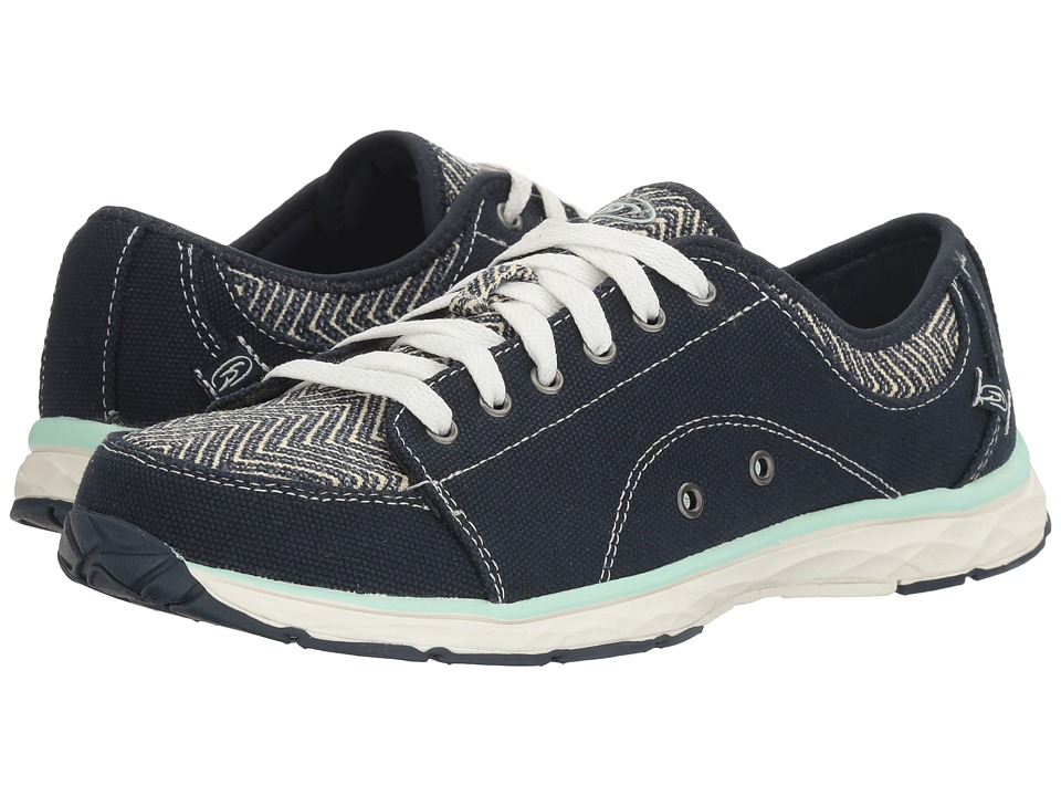 Dr. Scholl's - Anna (Navy/Chevron Canvas) Women's Lace up casual Shoes